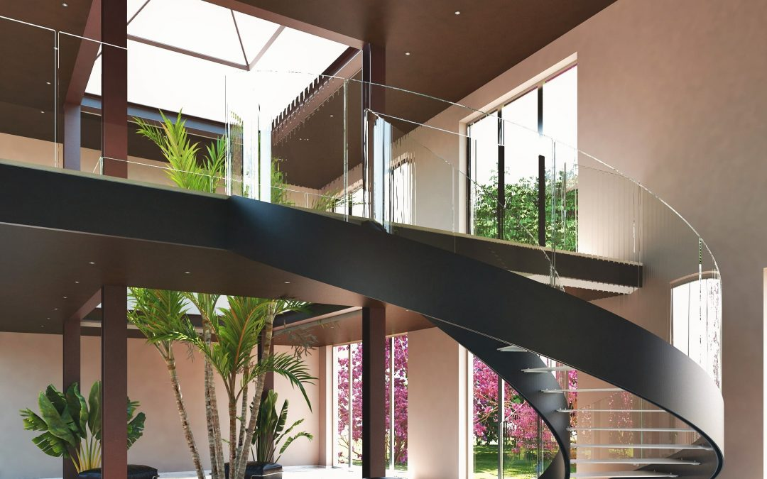 Interior helicoidal stairs range | Helika Lux with iron steps